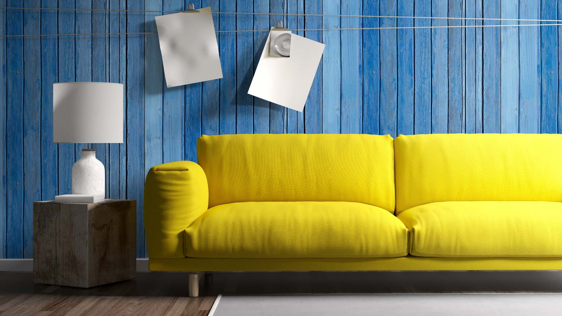 Sofa konvertiert